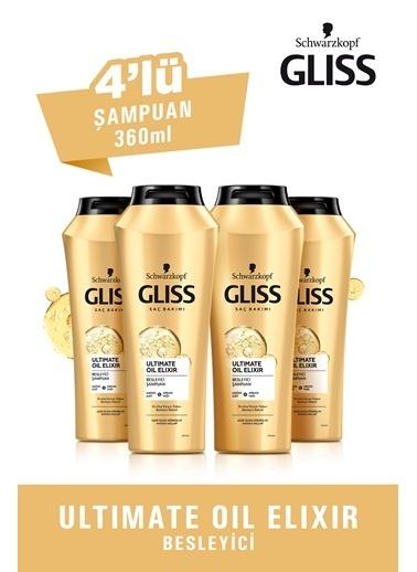 Gliss Ultimate Oil Elixir Besleyici Şampuan 360 Ml 4'Lü Renksiz